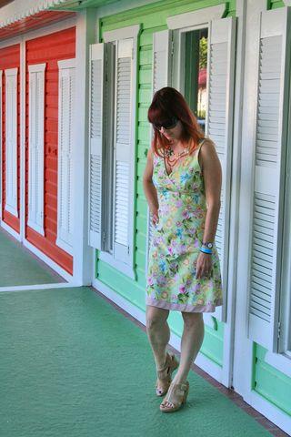 Floral green dress
