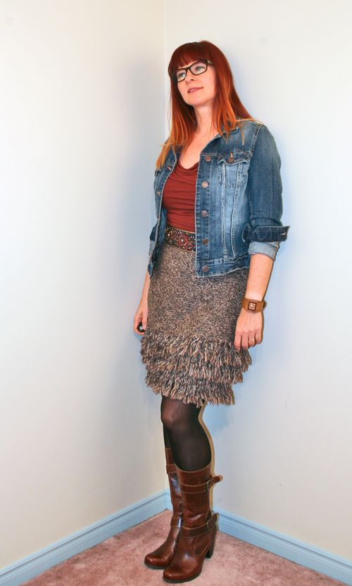 Knit fringe skirt anthropologie