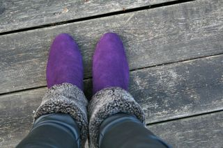 Puple booties