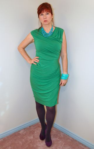 Green anthropologie jersey dress