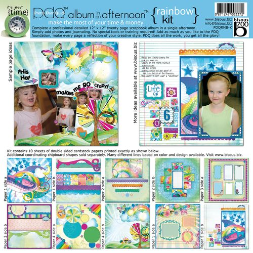 Rainbow scrapbooking kit