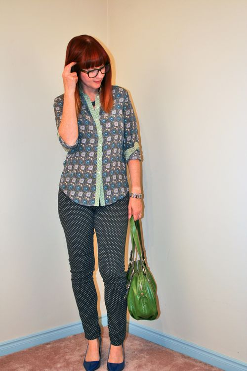 Ag polka dot jeans joe fresh blouse