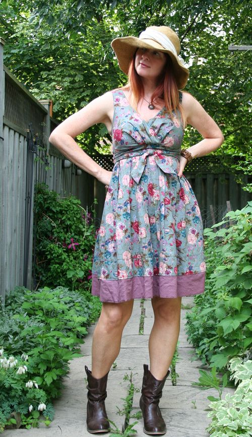Floral summer dress ruche