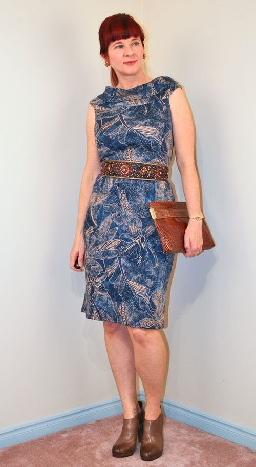 Blue brown ralph lauren dress