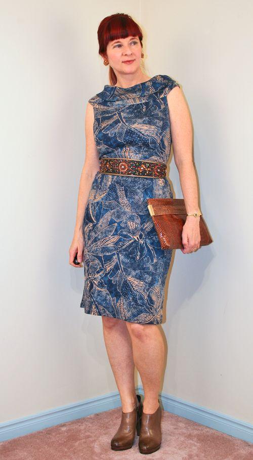 Blue brown ralph lauren dress