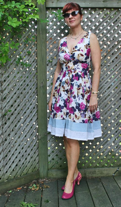 Floral summer dress ruche clothing