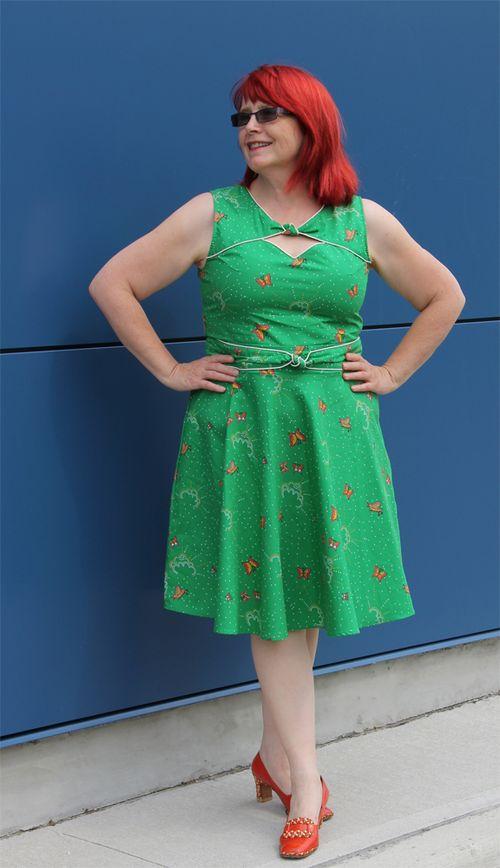 Mod cloth vintage style butterfly dress