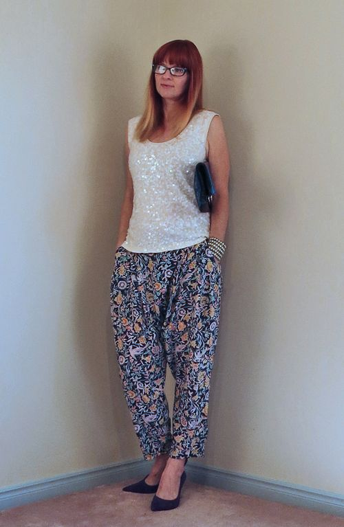 Anthropologie silk harem pants