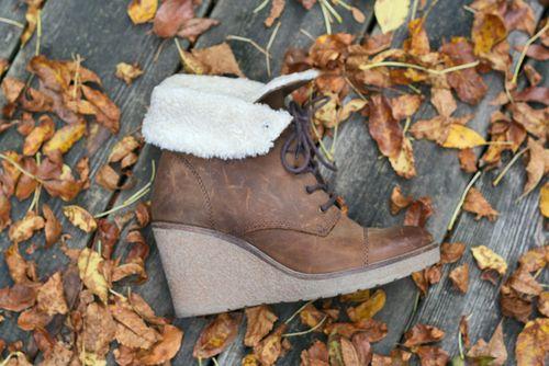 Brown booties aldo