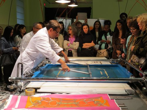 Silk screen hermes scarf