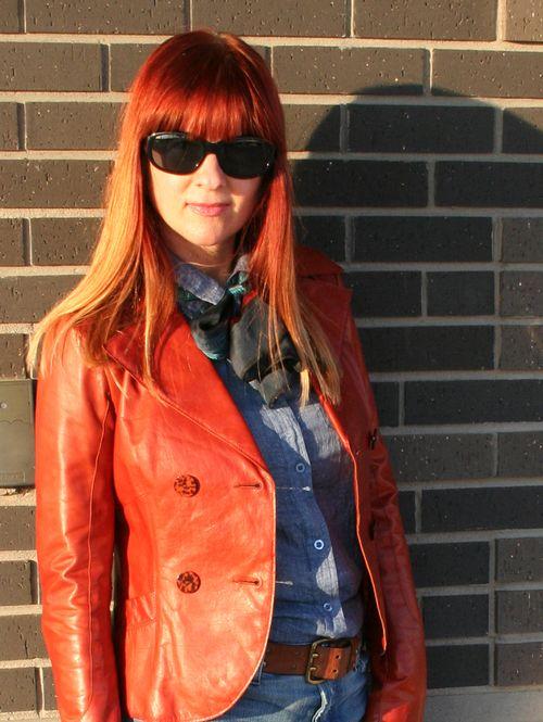 Rust leather jacket