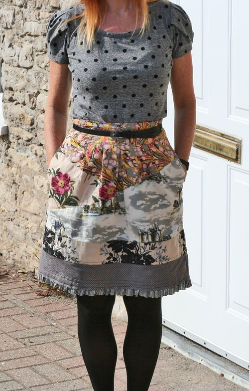 Quilted anthro skirt