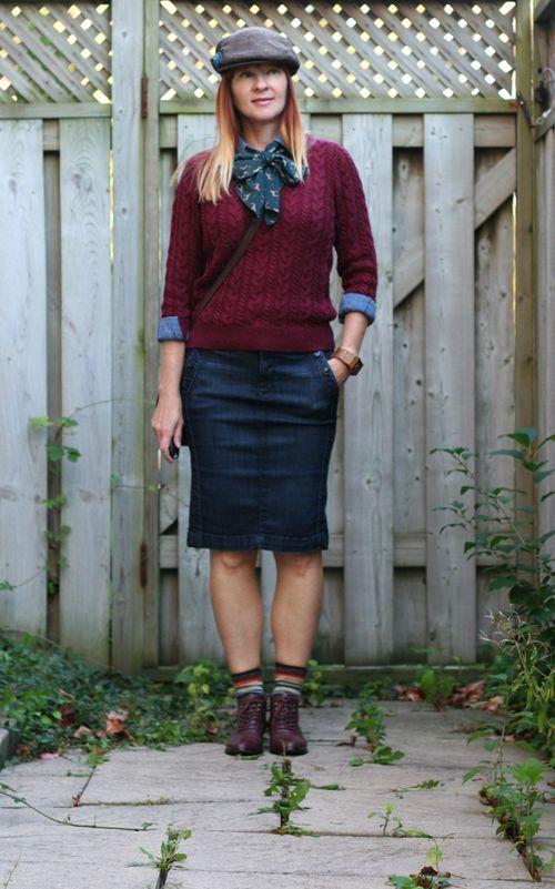 H&m burgundy sweater
