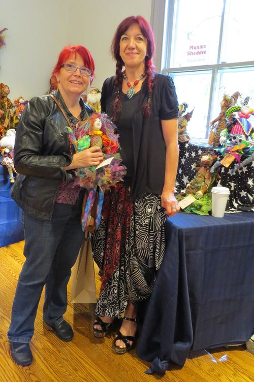 Hazel and doll artist
