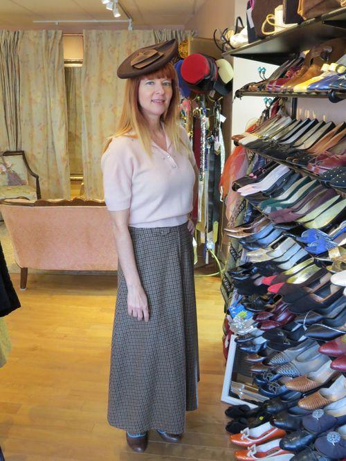 Pink cashmere maxi skirt