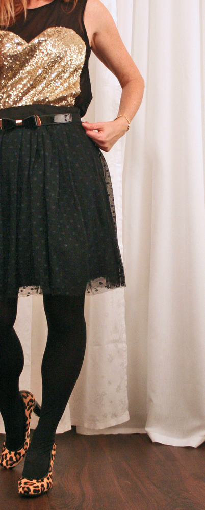 Anthropologie black tulle skirt Christmas party outfits idea