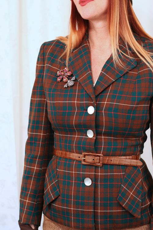 Vintage plaid blazer 1950s