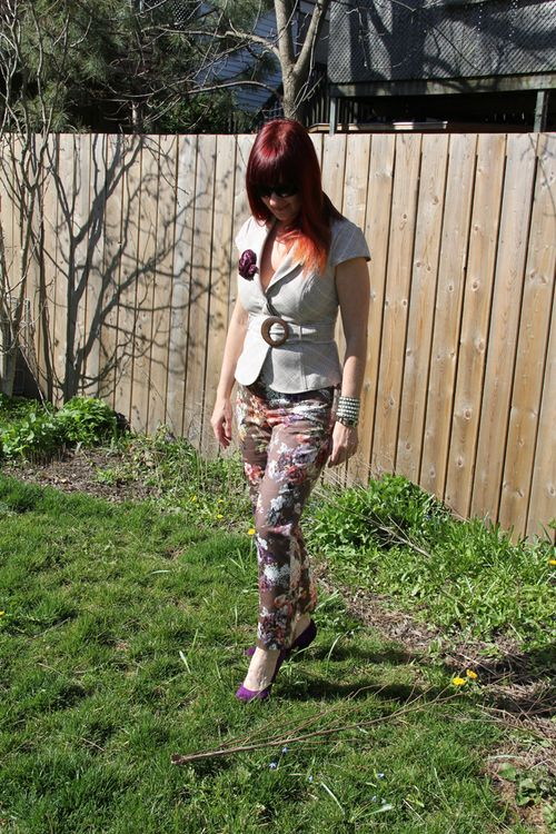 Floral pants suzanne carillo
