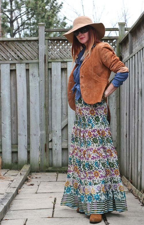 Boho style with a maxi skirt