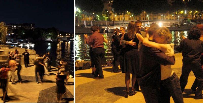Tango on the seine paris