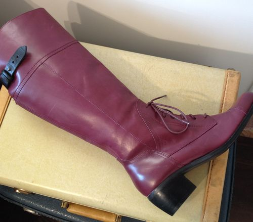 Burgundy riding boot