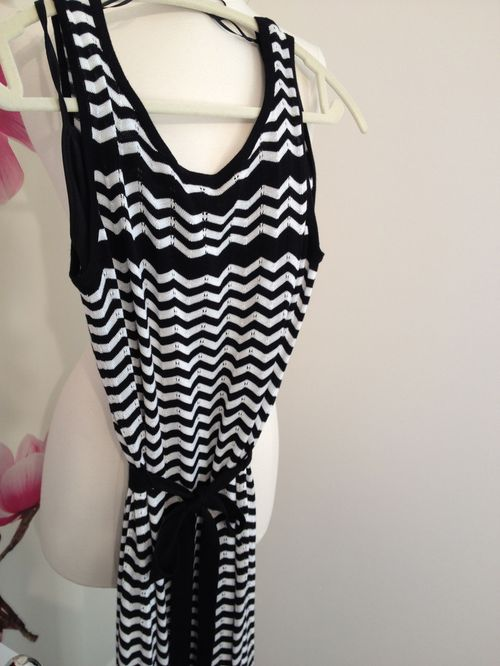 Chevron maxi knit dress