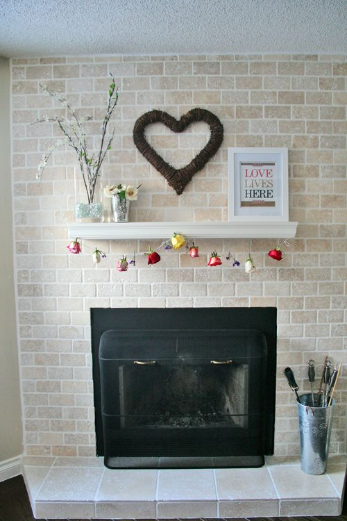 Handmade diy rose garland