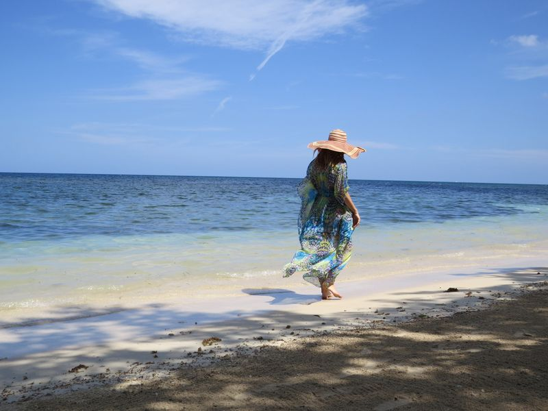 Walking on the beach montego bay