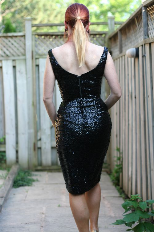 Back of vintage 1950's sequin dress suzanne carillo style files