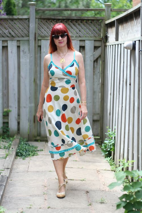 Summer style for women over 40 polka dot sun dress by yumi suzanne carillo style files