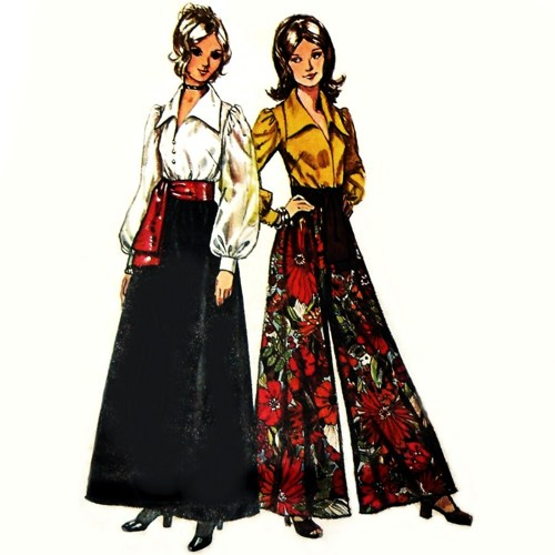 How to style vintage palazzo & cigarette pants