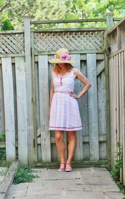 Sweet cotton summer dress by knitted dove suzanne carillo style files