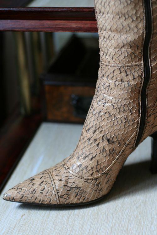 Miu miu snakeskin boots size 7 suzanne carillo style files