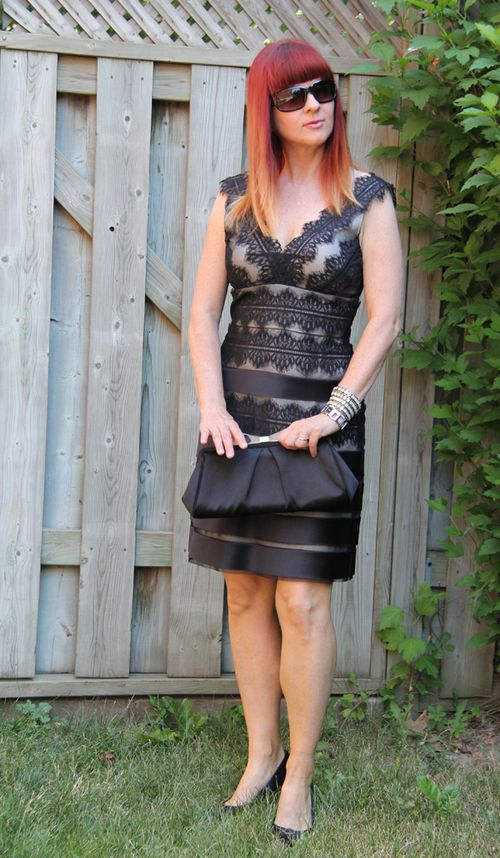 What to wear on a fat day Black lace dress what to wear when you feel fat suzanne carillo style files