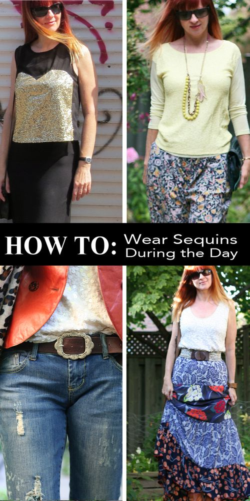 How to wear sequins during the day suzanne carillo style files