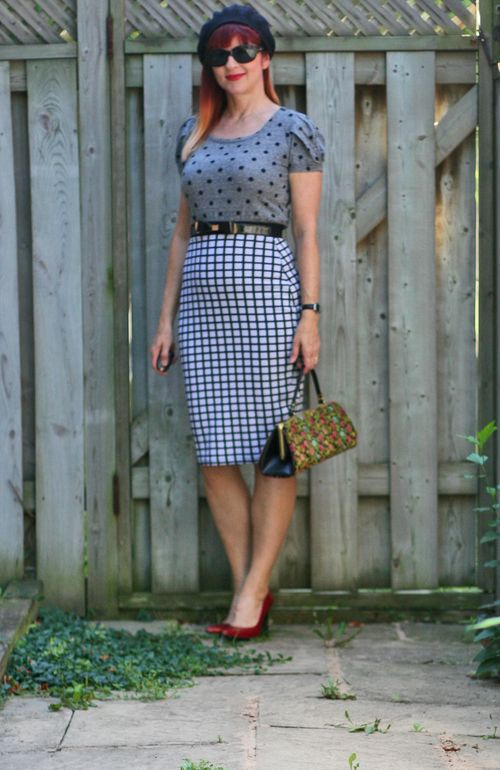 How to wear a pencil skirt over 40 vintage inspired style suzanne carillo