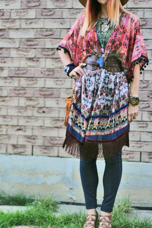 How to layer a kimono boho style suzanne carillo