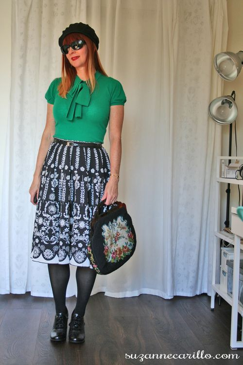 How to style a vintage skirt