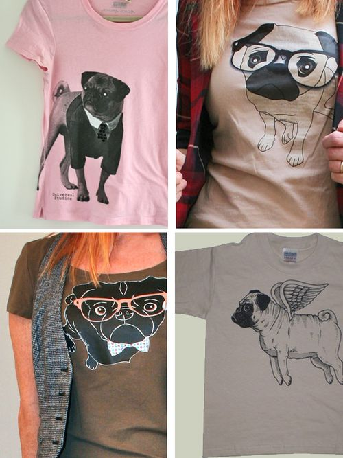 Collection of pug t-shirts suzanne carillo style files