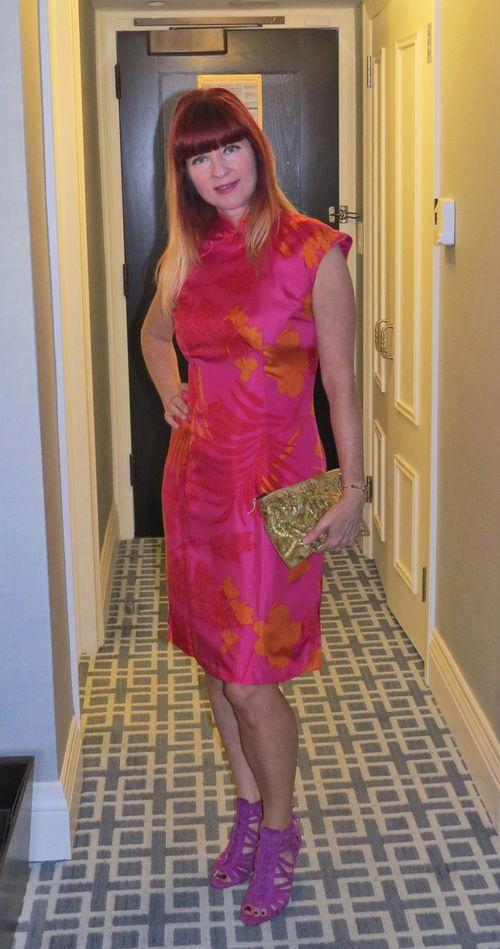 Cheongsam silk dress js collection suzanne carillo