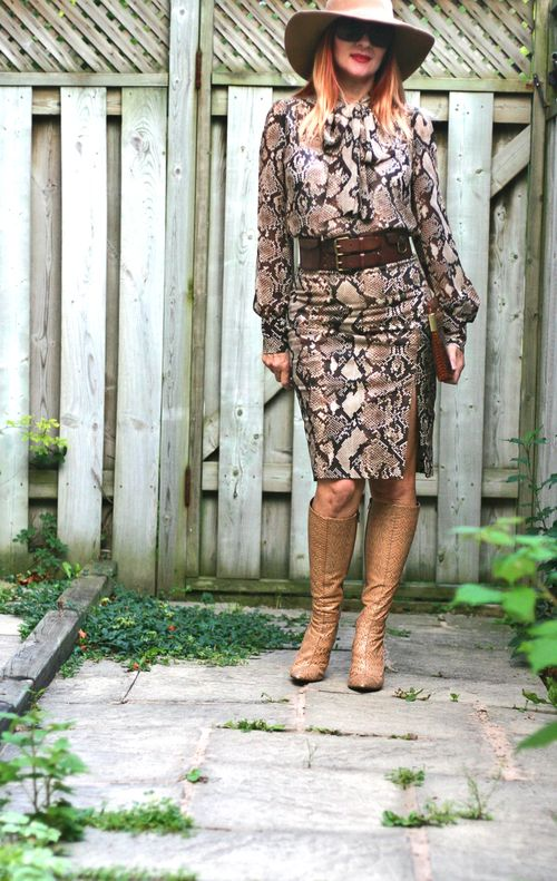 How to wear snakeskin pattern altuzarra skirt and top suzanne carillo style files