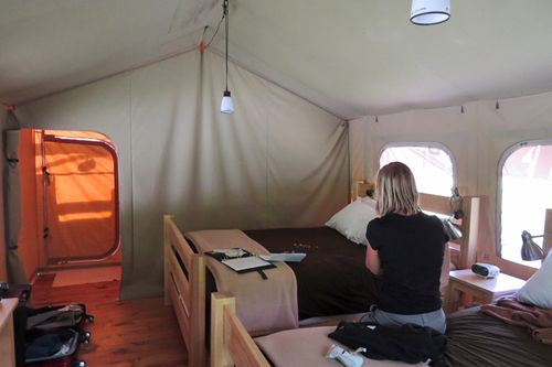 Inside of tent suzanne carillo
