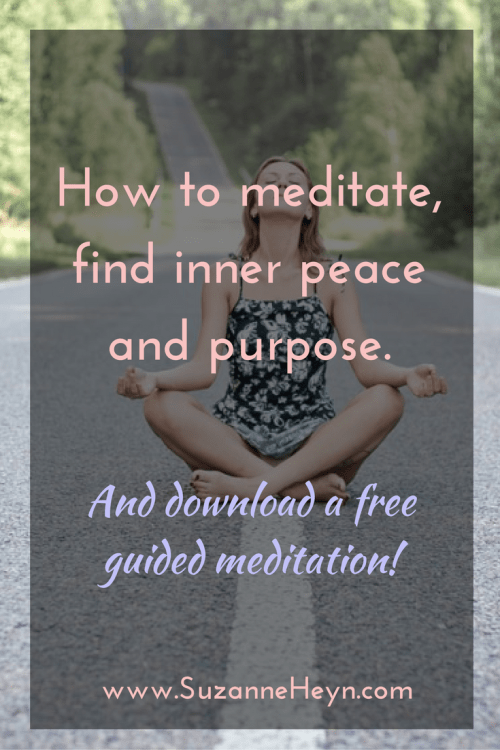 A beginner's guide to mediation, finding inner peace and healing emotionally. Click through to learn how to meditate and download a free guided meditation.