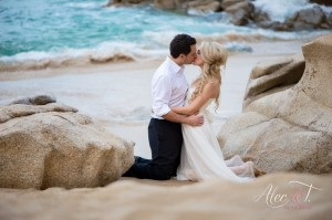 Los Cabos Arch trash the dress photo session Alec & T photographer hair and make up professional