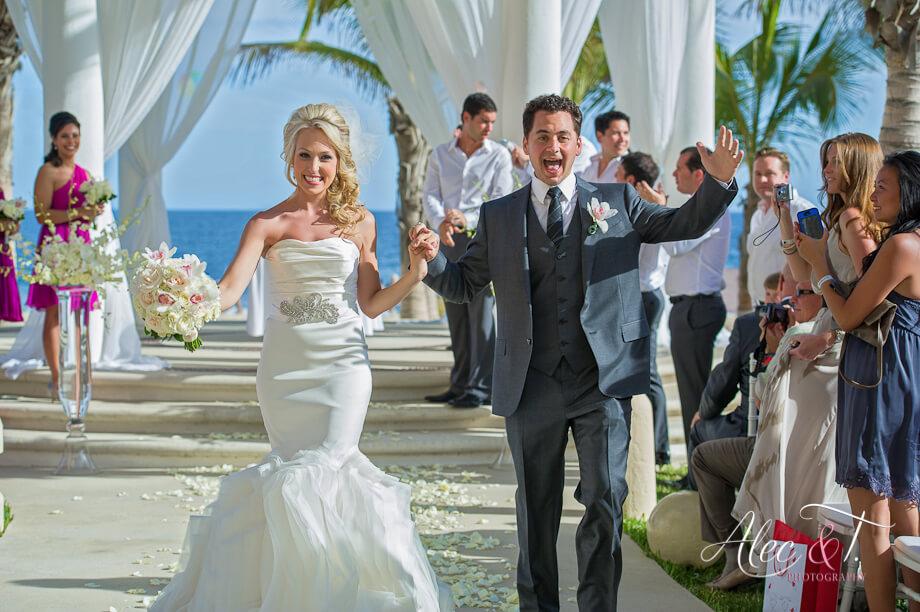 Cabo destination wedding ceremony and decor Barcelo