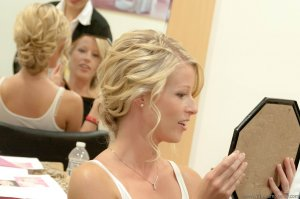 Kerry was so pleased with her Taylor Swift wedding-day look