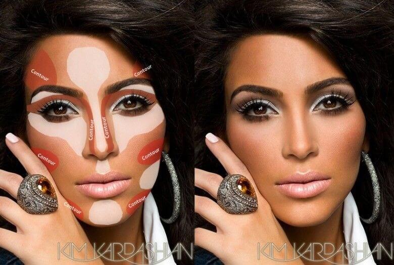cabo bride makeup contour highlight
