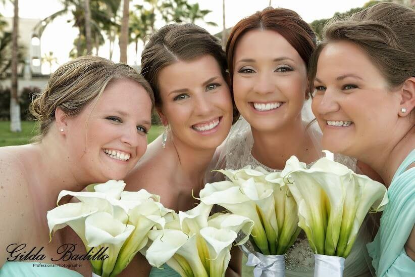 cabo wedding bridesmaids