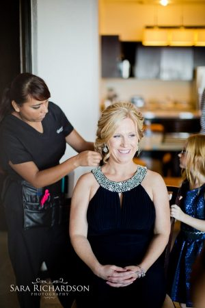Cabo mother of the bride makeup