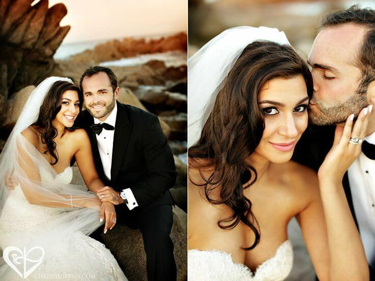 Brunette makeup trends for Cabo wedding